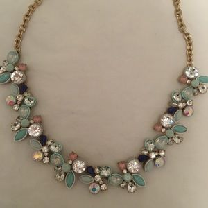 J Crew Statement Necklace, Sea Green